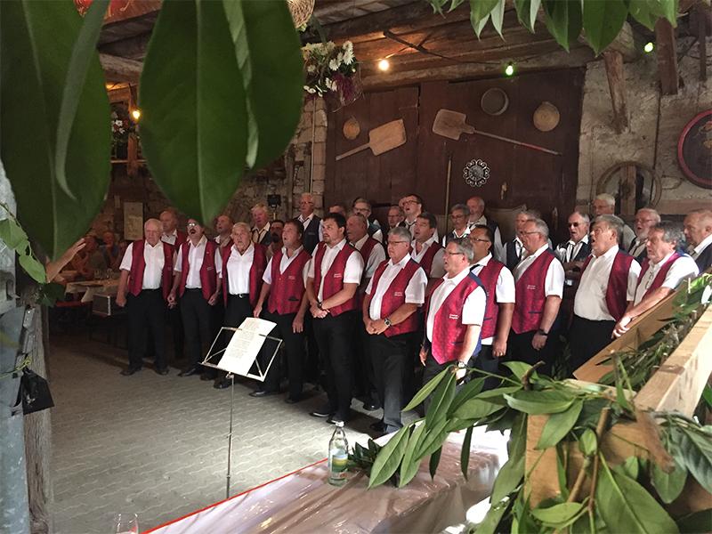 MGV, Männergesangverein, Silberbrunnen-Eintracht, Bahlingen, 2019 Gastchöre Gottenheim Bremgarten Hoselipsfest